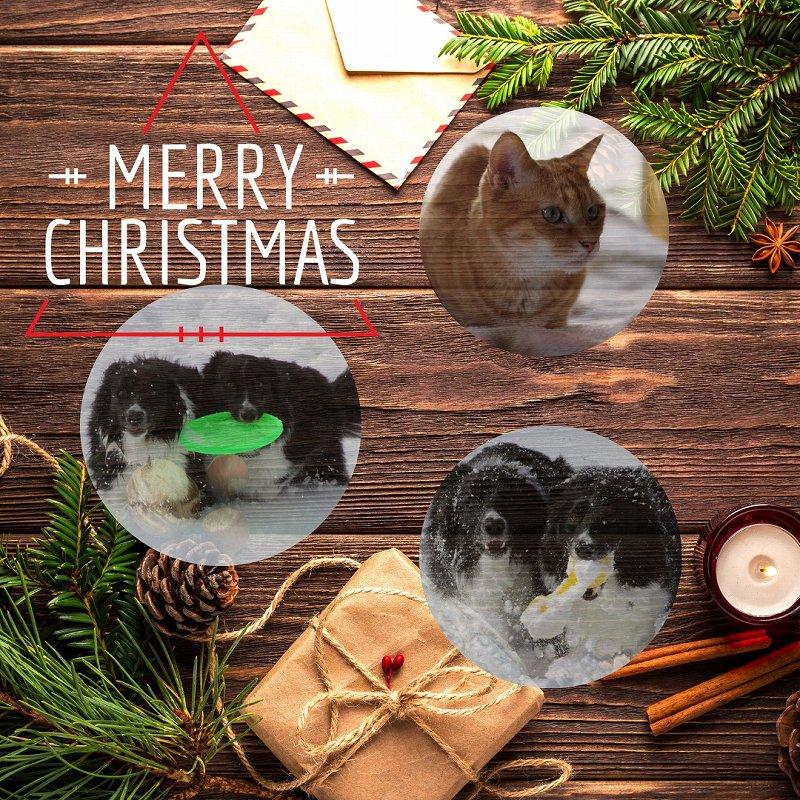 クリスマスカードを作ってみました
