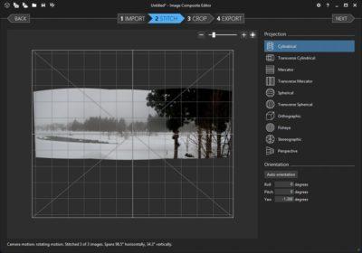 Image Composite Editor の画面